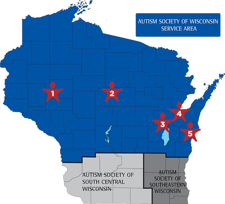 Service Area Map Wisconsin